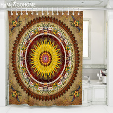 купить Bohemian Flower Mandala Shower Curtains for Bathroom Polyester Fabric Waterproof Curtain Vintage Bathroom Scenic Shower Curtains по цене 659.32 рублей