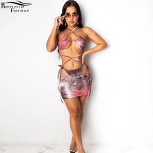 Skirt Set Two-Piece-Set HALTER Swimming-Suits Crop-Top Beach Fashion Womens Summer And