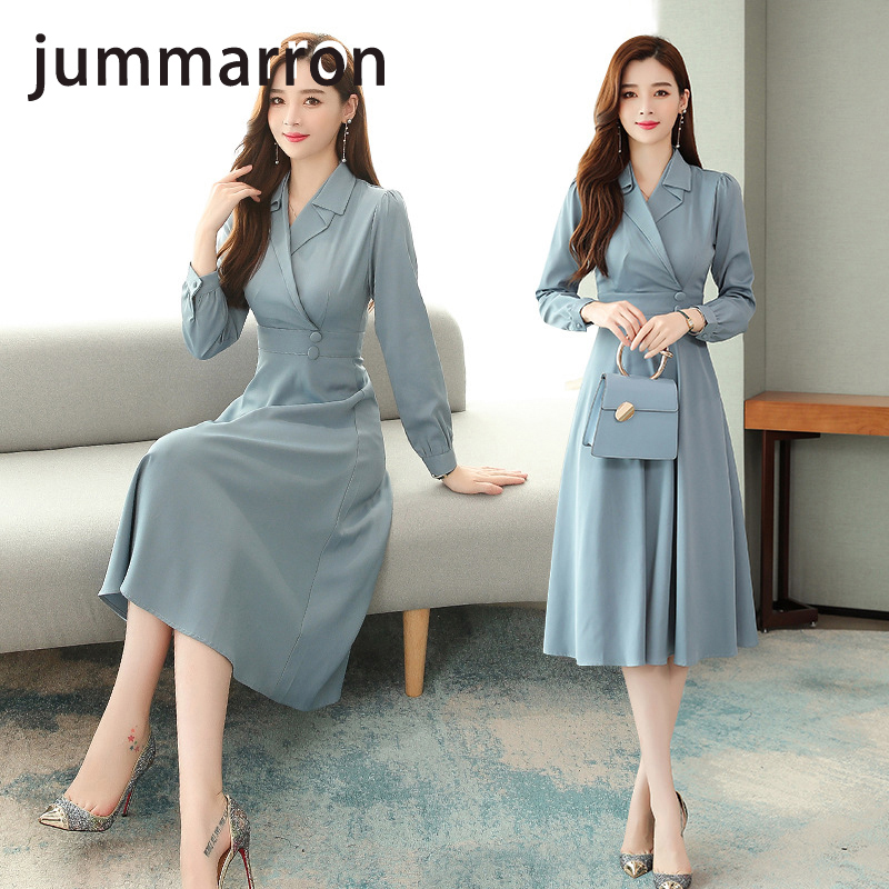 jummarron 2020 new professional suit <font><b>dress</b></font> autumn female fashion <font><b>dress</b></font> temperament Goddess <font><b>Dress</b></font> women <font><b>dress</b></font> elegant <font><b>dress</b></font> image