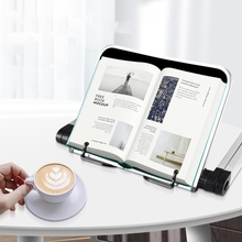 Foldable Reading Book Holder Bookcase Stand 360 Degree Adjustable Support for PC