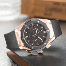 Top Brand Man Watch Business AAA Quartz Watches with Silicon