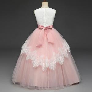 Image 4 - Свадебное кружевное платье в пол для девочек, элегантное платье подружки невесты для девочек, детское длинное платье принцессы, вечернее платье