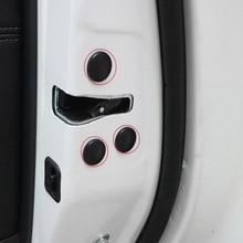 цена на Car Door Lock Check Screw Protective Stickers Cover Trim for Skoda octavia fabia superb kodiaq rapid yeti