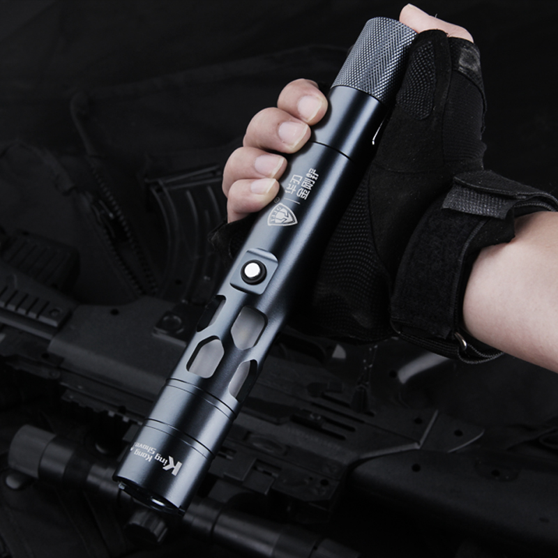 Outdoor Multifunction Led Emergency Flashlight Alarming Strobe Light Charging Ultra-bright Long Distance Rang Self Defense Torch