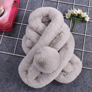 Women Winter Warm Scarf women echarpe hiver femme szaliki winter scarf Fashion Thicken Fur Imitation Fur Grass Scarves scarf