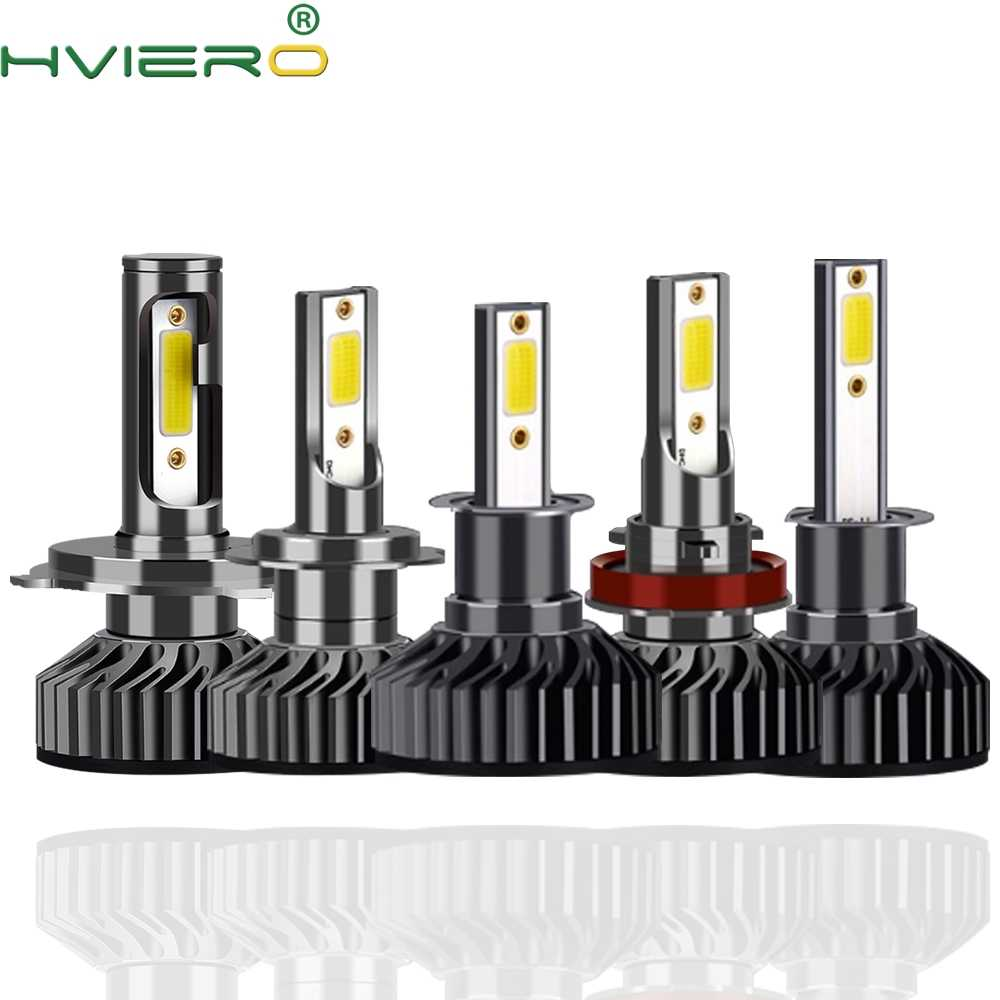 2X F2 COB Headlight H3 H4 H7 H8 H13 H27 880 9004 9005 9006 9007 72W 8000LM 6500K 12V 24V Headlamp COB DRL Fog Light Auto Bulb