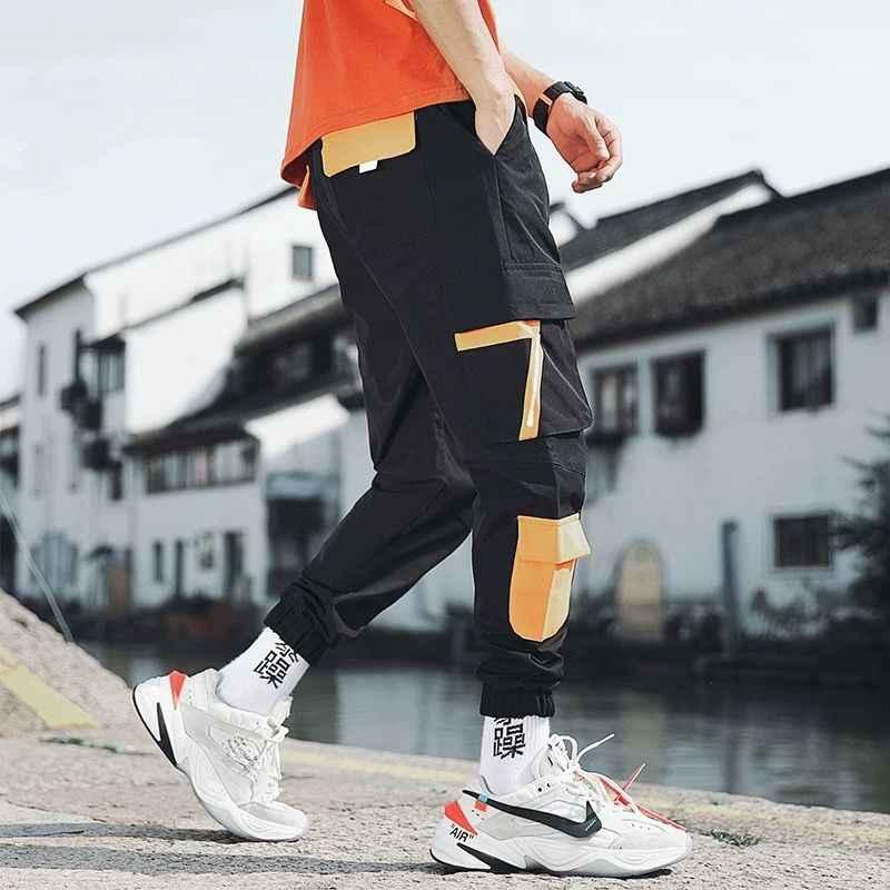 Pantalones Informales De Estilo Hip Hop Para Hombre Pantalon Masculino De Estilo Coreano Con Banda En El Tobillo Estilo Hip Hop Y Rap Pantalones Tipo Cargo Aliexpress