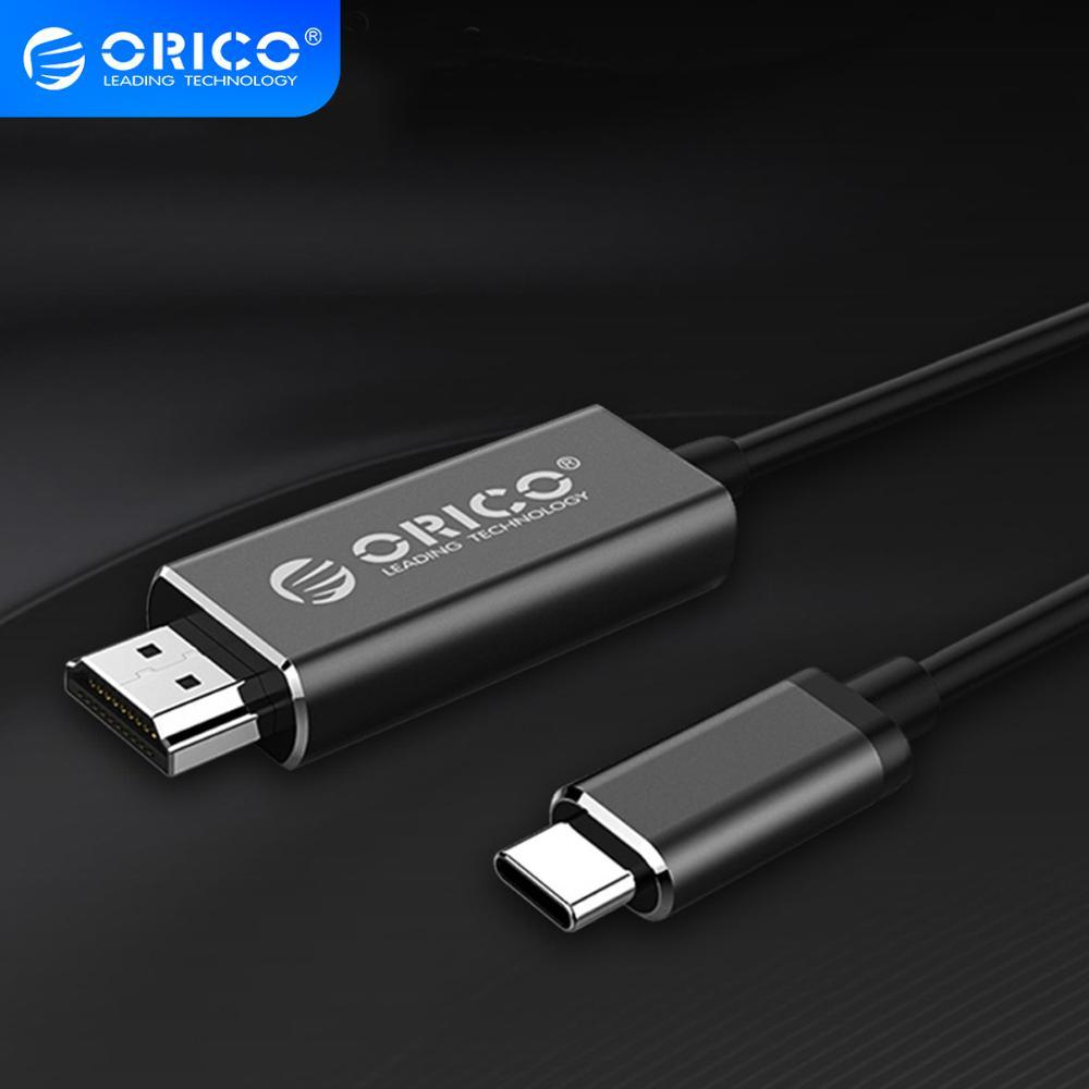 ORICO Typ C zu HDMI Konverter USB 3,1 USB-C zu HDMI Kabel für MacBook Samsung Galaxy S9/S8/hinweis 9 Huawei P20 4k 2m hdmi Kabel