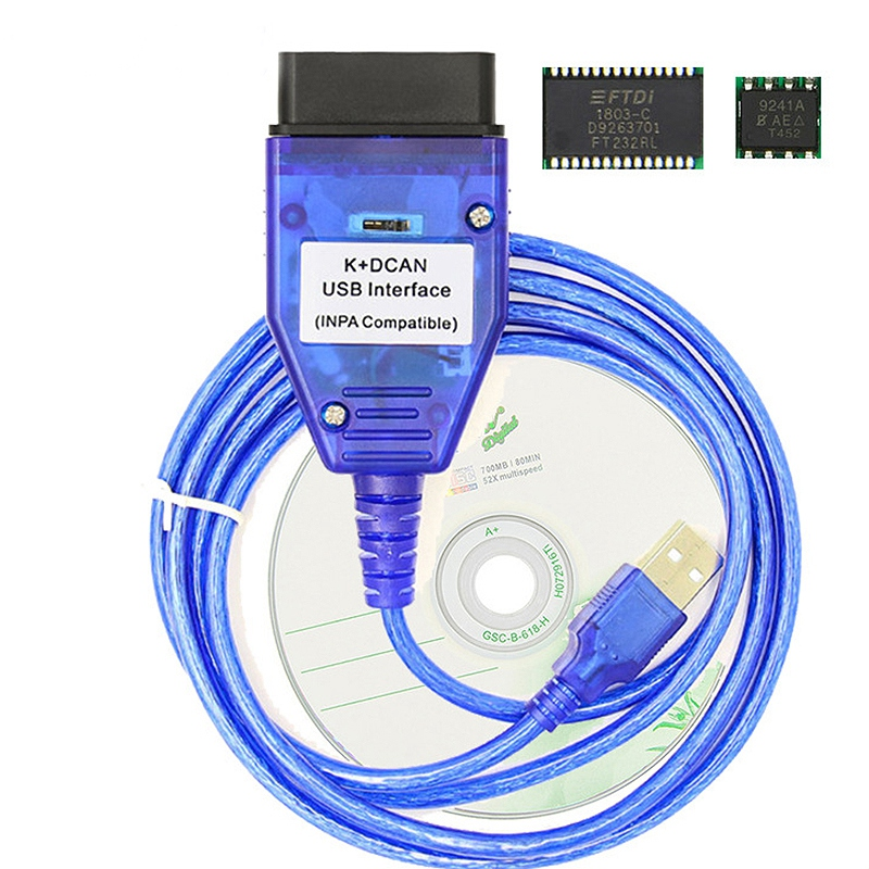 Inpa K+Can Ftdi Ft232Rl Chip With Switch For <font><b>Bmw</b></font> <font><b>Scanner</b></font> Inpa K Dcan Usb Cable Obd Obd2 <font><b>Diagnostic</b></font> Interface image