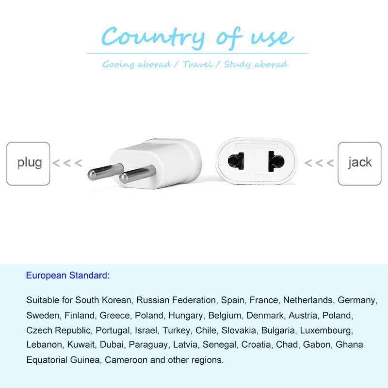 Ue KR gniazdo zasilacza japonia usa do ue europejski Travel Adapter wtyczka elektryczna Adapter konwerter przewód zasilający ładowarka