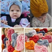 BabyTurban – chapeau à nœud pour bébé, couvre-chef en tricot gaufré, accessoires pour cheveux de bébé, cadeau de shopping
