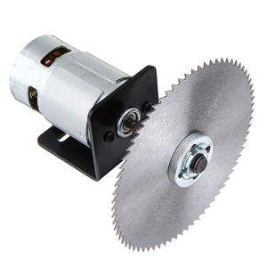 775 Motor Table Saw Kit DC 12V Gear Motor with Mounting Bracket and Saw Blade for Woodworking(China)