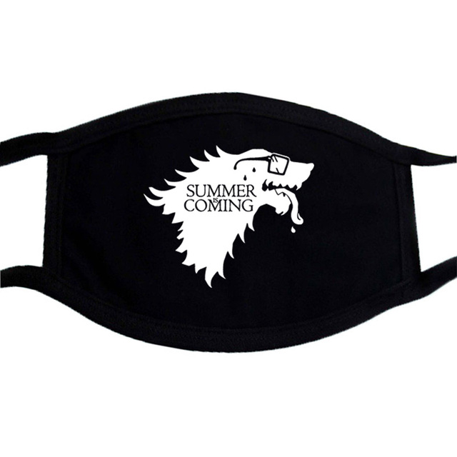 Stranger Things Mouth-Muffle Game Of Thrones Print Mouth Mask Black Hip Hop Dust Washable Mask Fashion Reusable Face Masks kpop 1