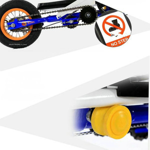 Image 5 - Складной Педальный скутер для подростков, 10 дюймовый надувной колесный скутер из алюминиевого сплава с нагрузкой 90 кг, скутер для фитнеса