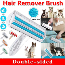 2-Way Cat Dog Hair Cleaning Brush Pet Hair Remover Roller Removing Dog Cat Hair From Furniture Carpet Clothes Self-Cleaning Lint