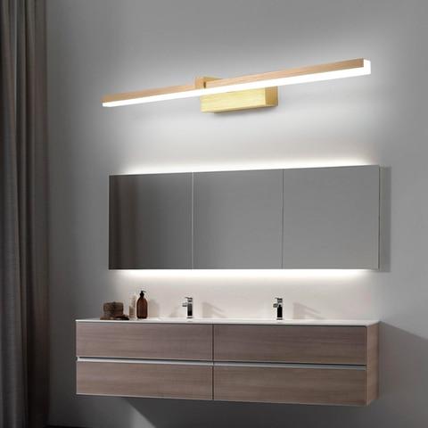 ac110 240 v l40cm 60cm 80cm arte moderna decoracao led espelho do banheiro luz escovado