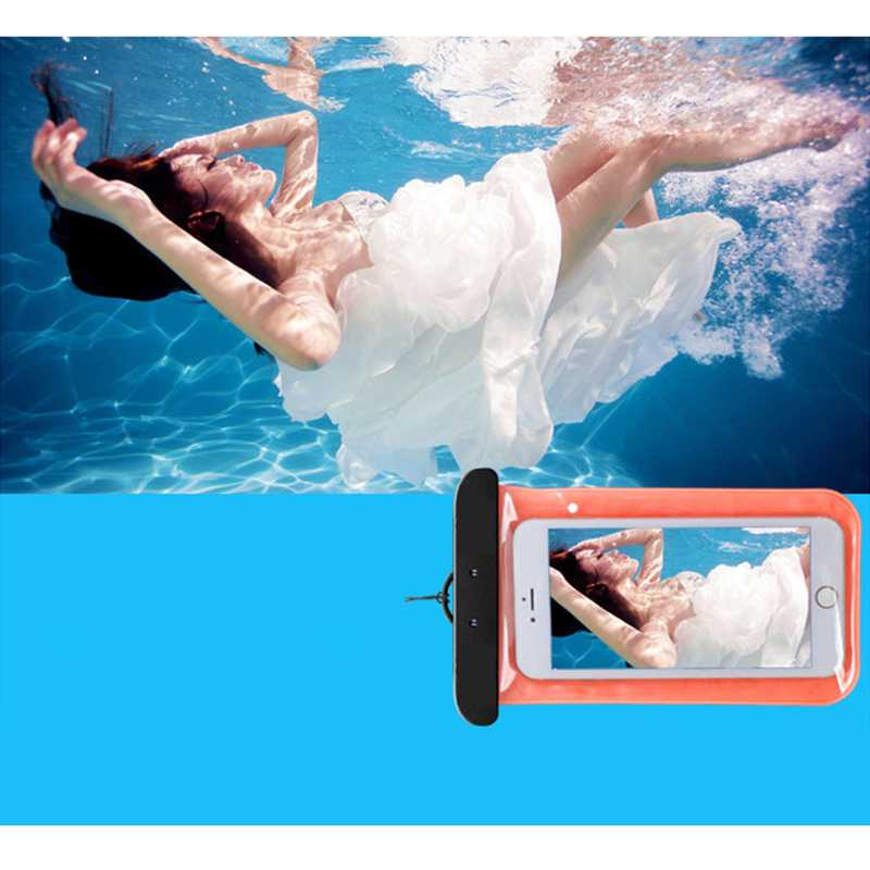 Touch Waterproof Mobile Phone Bags PVC Universal Cell Phone Dry Pouch Cover Swimming Diving Storage Bag Phone Case Bag 105x175MM