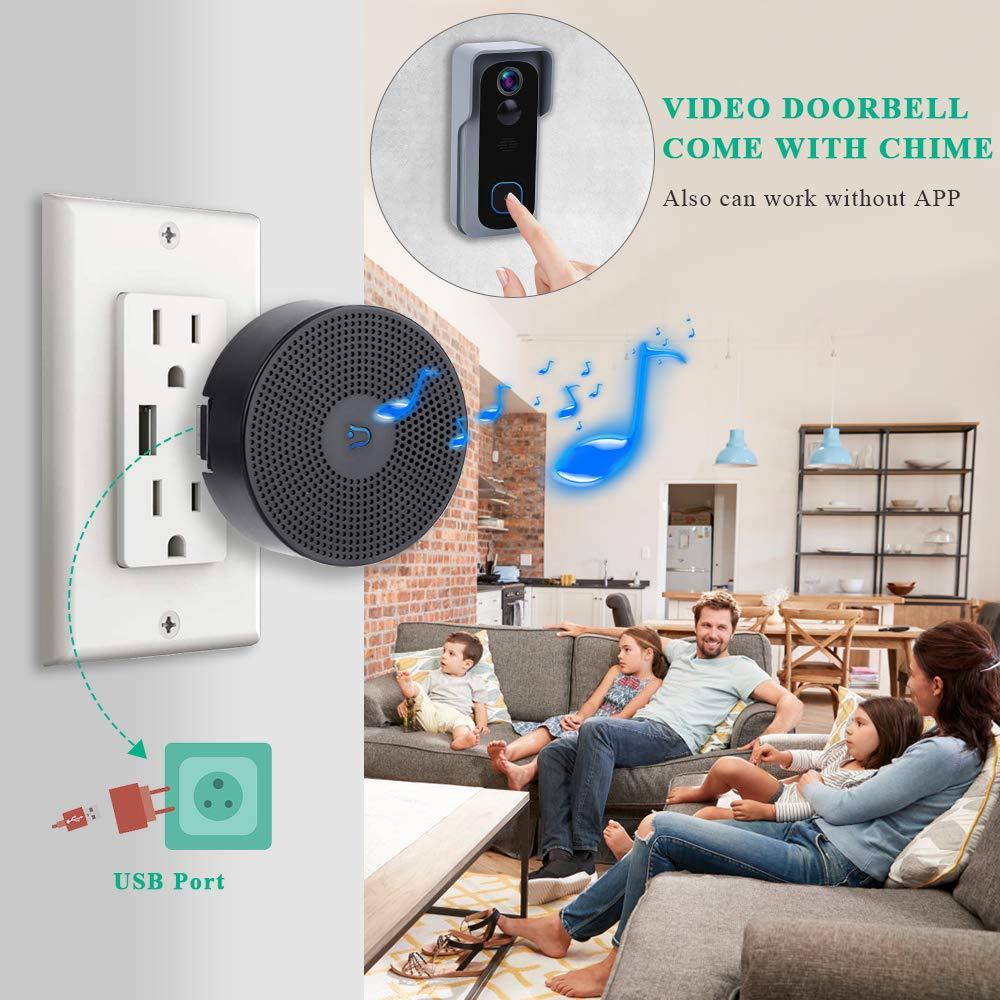 Onvian WiFi Doorbell Camera Waterproof 1080P HD Video Door Bell Motion Detector Smart