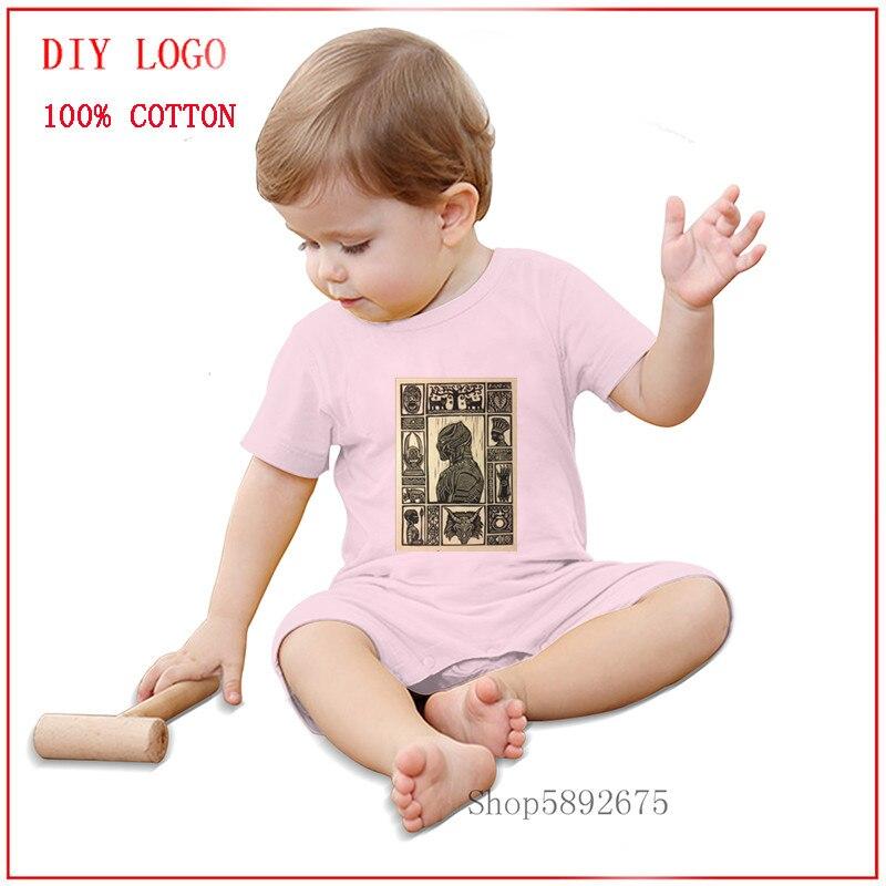 Verão unissex roupas de bebê macacão preto panth um-pieces bonito roupas para a criança para meninas meninas 100% algodão aconchegante e respirável tripulação pescoço