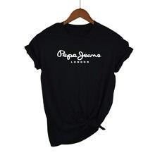Удобная хлопковая Повседневная Свободная футболка с буквенным принтом, зеленая модная летняя Женская Повседневная футболка в стиле Харадз...