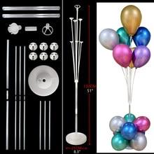 Balões de 7 tubos para decoração, balões de 7 tubos para decoração de aniversário 16 18 20 30 40 50 60 70 anos de aniversário decorações de festa crianças adultos adultos