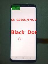 SUPER AMOLED S8 LCDสำหรับSamsung Galaxy S8 G950 G950FจอแสดงผลLcdหน้าจอสัมผัสDigitizerสีดำจุด