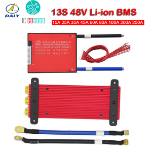 Image 4 - דיילי 13S 48V ליתיום סוללת ליתיום הגנת לוח איזון eBike פריקת מטען 18650 Lipo BMS 15A 30A 50A 60A 80A 100A 200A