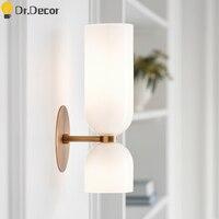Postmodern LED Glass Wall Lamps Nordic Bedroom Light Fixture Luxury Sconce Kitchen Wall Lighting Lights Mirror Bathroom Light