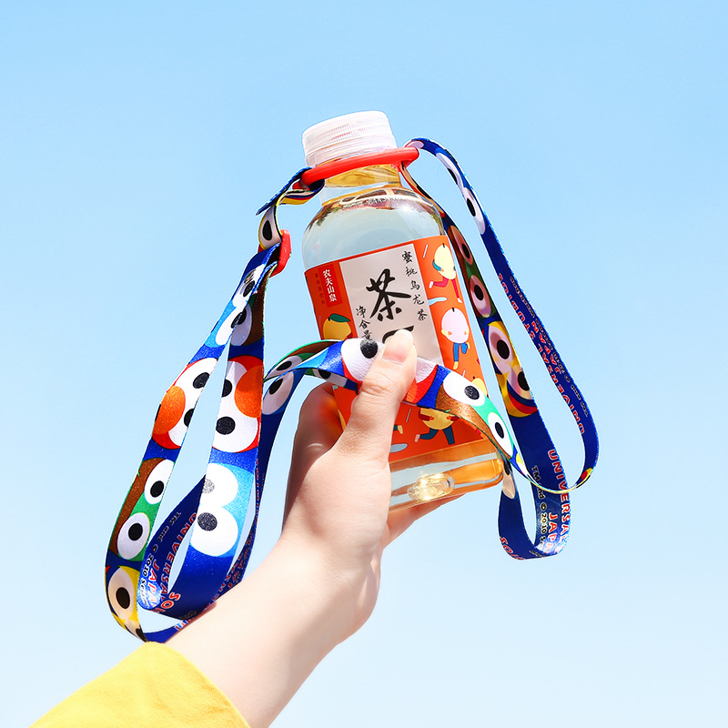 1793 Japan Sesame Street Beverage Bottle Lanyard Portable Cute Suspender Strap Mineral Water Bottle Buckle Water Bottle Lanyard