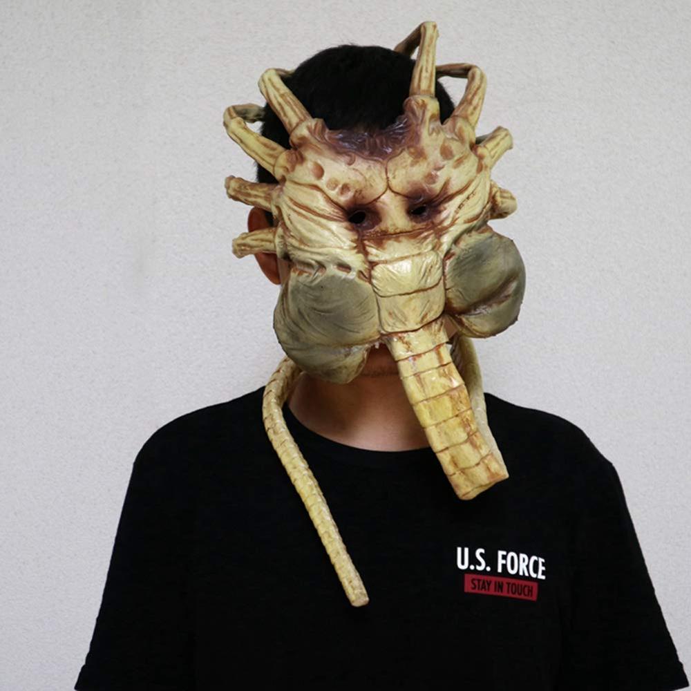 Máscara de Alien Facehugger, disfraz de Xenomorph Hugger, accesorio de Halloween, garras de látex aterradoras, insectos - 6