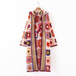 Image 5 - Женский вязаный свитер ручной работы, однотонный вязаный свитер с длинными рукавами, осенний свитер высокого качества, 2019