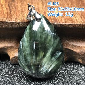 Image 4 - Top Natural Green Seraphinite Pendant For Woman Men Love Gift Crystal Water Drop Beads Gemstone Necklace Pendant Jewelry AAAAA