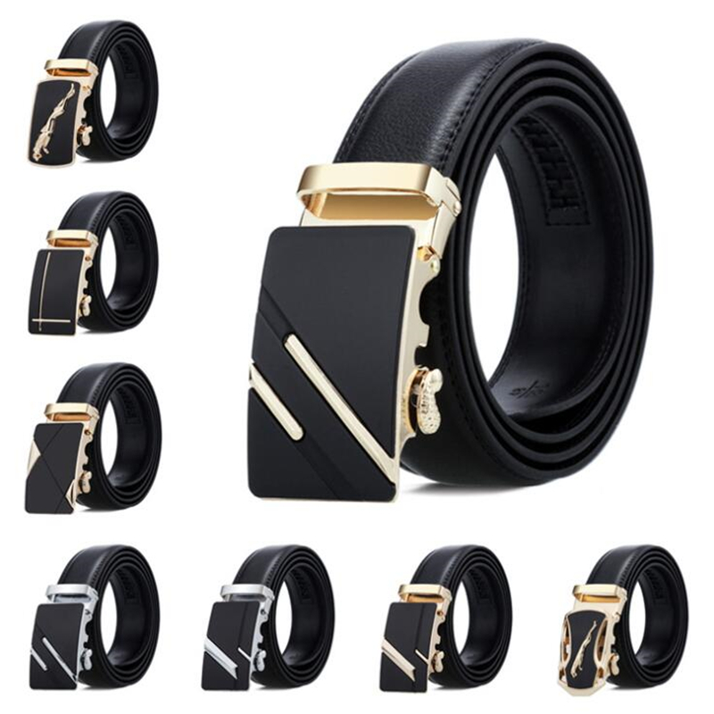 New Famous Brand Belt New Male Designer Automatic Buckle Leather Men Belt 3.5cm Luxury Belts For Men Ceinture Homme Men's Belts
