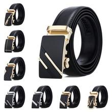 New Famous Brand Belt New Male Designer Automatic Buckle Leather Men Belt 3.5cm Luxury