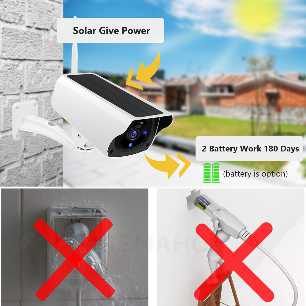 Solar WiFi IP Outdoor Camera 1080P HD Motion Detection 9
