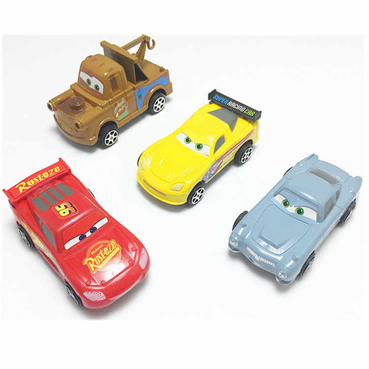 4pcs hot whels kinderen speelgoed auto cartoon thomas auto pull-back auto 3 voor kinderen jongens educatief tomica model truck juguete