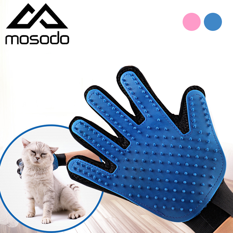 Mosodo Pet Grooming Glove Hair Removal Mitts De-Shedding Brush Combs For Cat Dog Massage Combs Pet Supplies Cat Accessoies