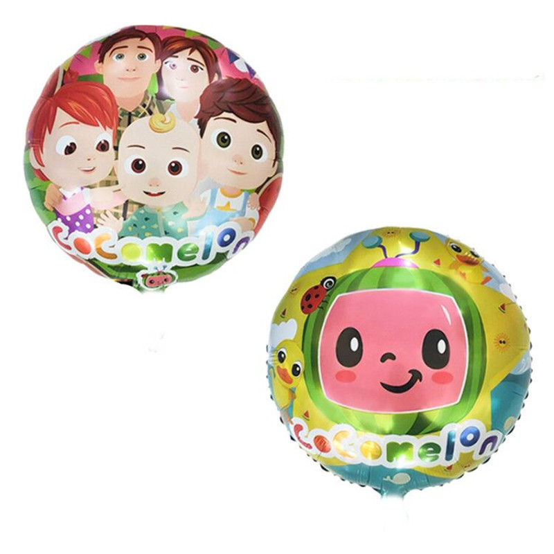 Набор воздушных шаров из фольги в тематике Cocomelon