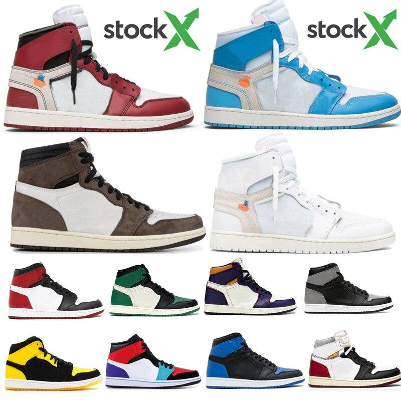 1 High Travis Scotts Low Fearless Obsidian Mens Basketball Shoes Spiderman UNC 1s Banned Bred Toe Men Sport Designer Sneaker