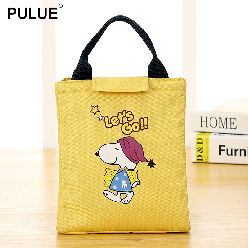 2020 New Children Lunch Bag Cartoon Dog Cat Travel Picnic Bag Thermal Insulated Lunch Box Tote Women Bento Pouch Cooler Handbag