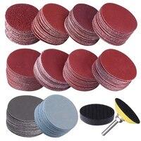 200Pcs 50mm 2 Zoll Sander Disc Schleif Discs 80-3000 Grit Papier mit 1 Zoll Schleifpolitur pad Platte + 1/4 Zoll Schaft für Dreh