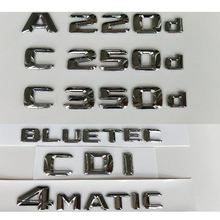 3d хромированный для mercedes benz a180d a200d a220d a250d c180d