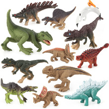12pcs Dinosaur Model Jurassic Tyrannosaurus Dragon  Collection Soft Action Toy Figures Toys Animal Collection Model wiben jurassic tyrannosaurus rex t rex dinosaur toys action figure animal model collection learning