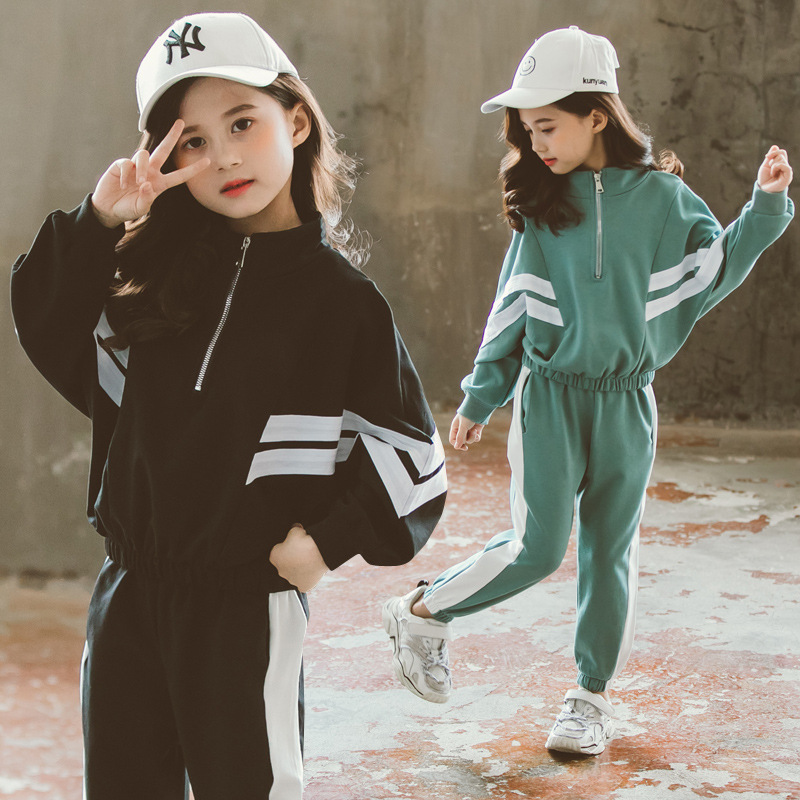 Комплект детской одежды, повседневные спортивные костюмы для девочек подростков, весенние комплекты одежды из 2 предметов для детей 8, 10, 12 лет, хлопковая одежда для девочек|Комплекты одежды| | - AliExpress