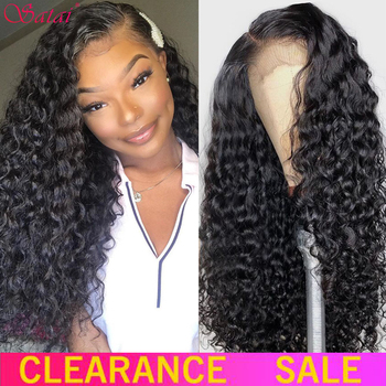 Satai Water Wave Wig Lace Clsorue Wig Pre Plucked Curly Human Hair Wig 13x4 Water Wave Lace Front Wig Brazilian Human Hair Wigs