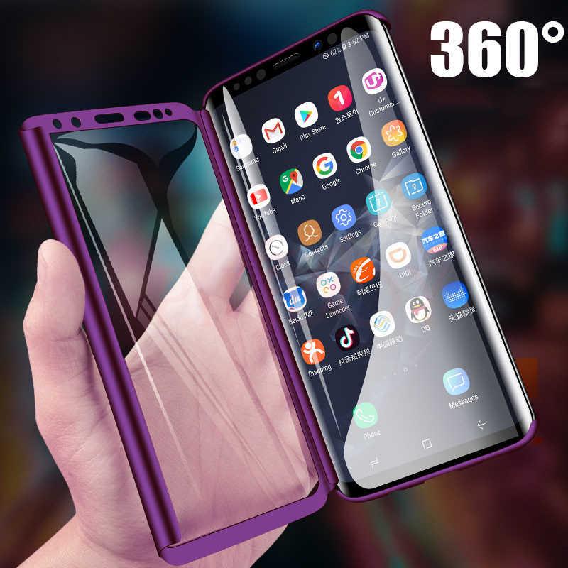 Capa 360 completa luxuosa para celular, para samsung galaxy s10 s9 s8 plus s7 edge note 10 9 8 à prova de choque capa protetora s10 plus