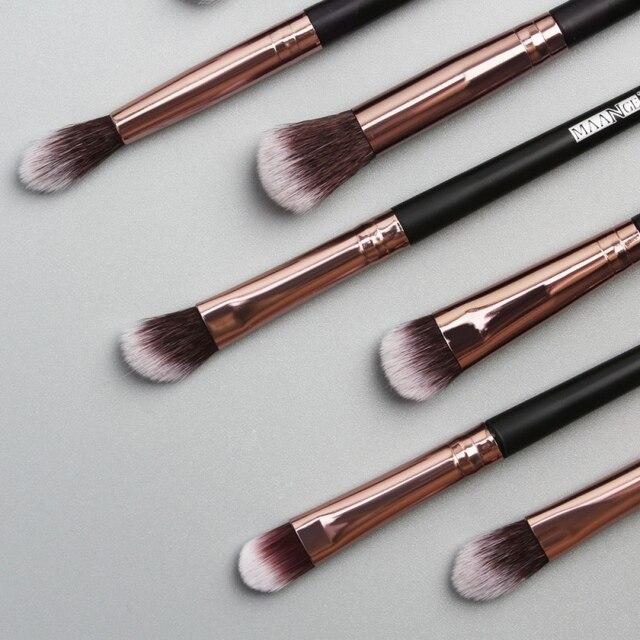 12pcs EyeMakeup Brushes Set Eyeshadow Brush Eyebrow Comb Brush  Eyelash Bevel Eyeliner Smudge Brush Newest 2