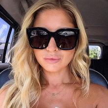 Luxus Quadrat Sonnenbrille Frauen 2021 Marke Designer Retro Big Rahmen Sonnenbrille Vintage Gradienten Weibliche Oculos Feminino UV400 cheap MOLAUNA CN (Herkunft) WOMEN Polycarbonat SQUARE Erwachsene Kunststoff NONE Polarisiert MIRROR Anti-reflektierende 46mm S3268