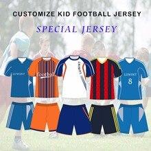 Детские футбольные футболки на заказ, детские футбольные майки, футбольный комплект с коротким рукавом, Футбольная Униформа для тренировок, спортивные костюмы