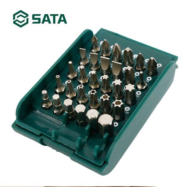 """SATA 30pcs 1/4 """"Dr Handleiding Schacht Bits Set Voor Auto Reparatie Huis onderhoud Hand Tool Set 09331"""
